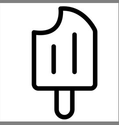 dessert food icecream sweet icon vector image