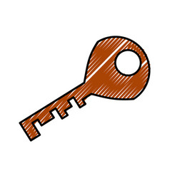 door key isolated vector image