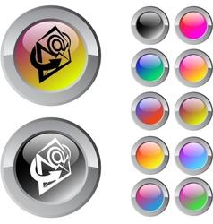 E-mail multicolor round button vector image