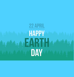 Earth day with tree style vector
