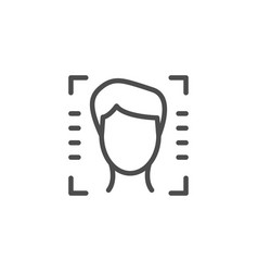face id line outline icon vector image
