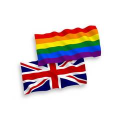 Flags great britain and rainbow gay pride vector