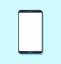 flat mobile phone device modern smartphone vector image