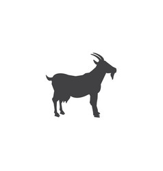 goat silhouette logo template lamb standing vector image