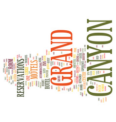 Grand canyon motels text background word cloud vector