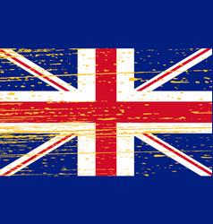 grunge union jack flag of united kingdom vector image