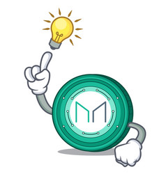 Have an idea maker coin mascot cartoon vector