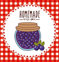 Homemade jam design vector