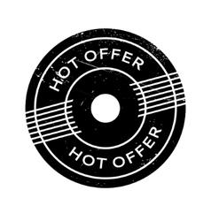 Hot Offer rubber stamp vector