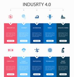 Industry 40 infographic 10 option ui design vector