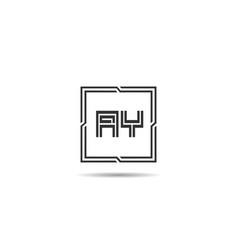 initial letter ay logo template design vector image