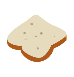 Isolated slice of bread vector