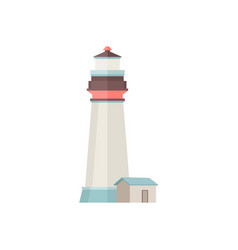 lighthouse icon in flat style isolated on white vector image