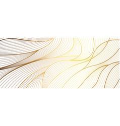 luxury golden linear background vector image