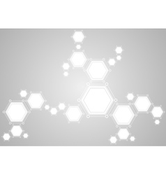 Molecular structure abstract tech light background vector