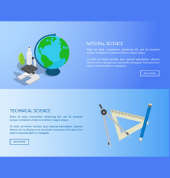 natural and technical sciences internet info page vector image