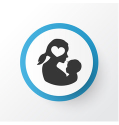 newborn baby icon symbol premium quality isolated vector image