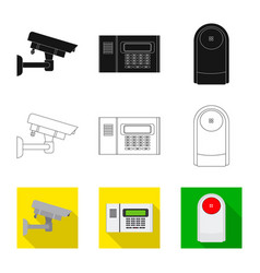 Office and house icon set vector