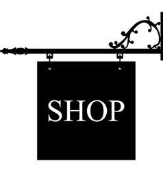 Old shop sign vector image