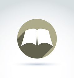 open book with blank sheets placed in a circle vector image