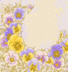 pastel pansy vector image
