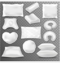 pillow soft pillow-block with white vector image