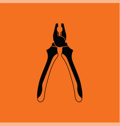 pliers tool icon vector image