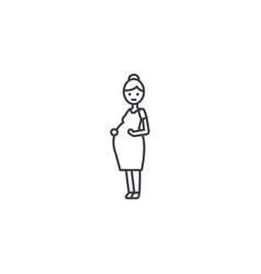 pregnant woman line icon sign vector image