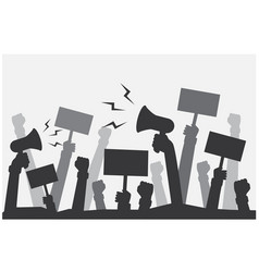 protest and rally outrage people vector image