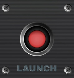 Red Button Launch vector image