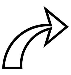 Redo Outline Icon vector image
