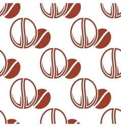Roasted coffee beans brown seamless pattern vector