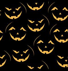 Scary jack-o-lantern pattern vector