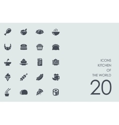Set of kitchen the world icons vector