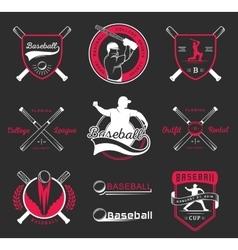 Set of Logo and Badges Baseball vector