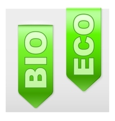 Set of Popular Ribbons BIO and ECO Realistic vector image