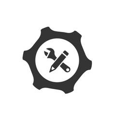 Settings configuration icon vector