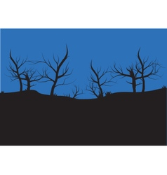 Silhouettes of autumn tree vector