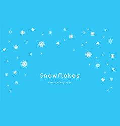 snowflakes falling background for winter seasonal vector image