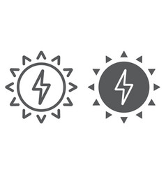solar energy line and glyph icon ecology vector image