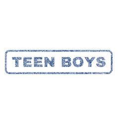 Teen boys textile stamp vector