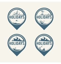 travel logos vector image