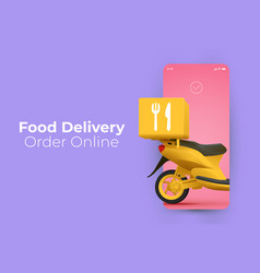 trendy minimalistic food delivery service vector image