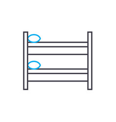 two-storey bed linear icon concept two-storey bed vector image