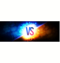 Versus vs sign on power light blue and gold vector