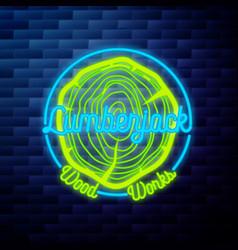 vintage lumberjack emblem vector image