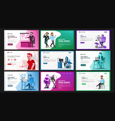 Website design template set business vector