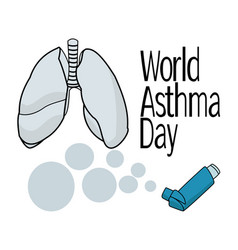 world asthma day schematic representation of vector image