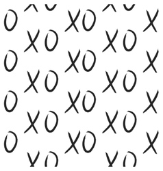 Xoxo hugs and kisses seamless pattern vector
