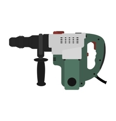 Big electric hammer drill clip art vector image vector image